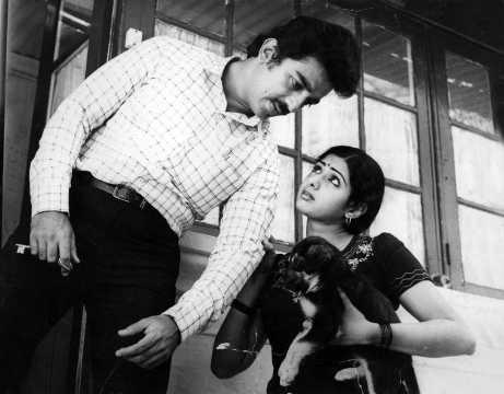 Kamal Haasan and Sridevi in a scene from Sadma